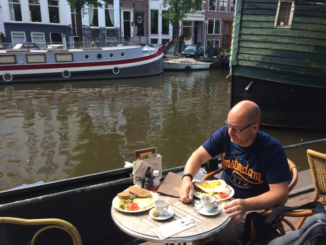 Canal-side breakfast, 2014