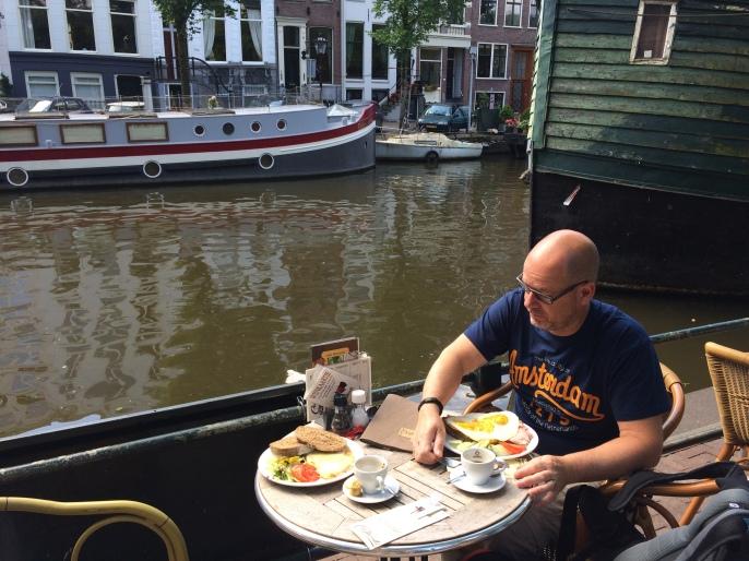 Canal-side breakfast, 2014